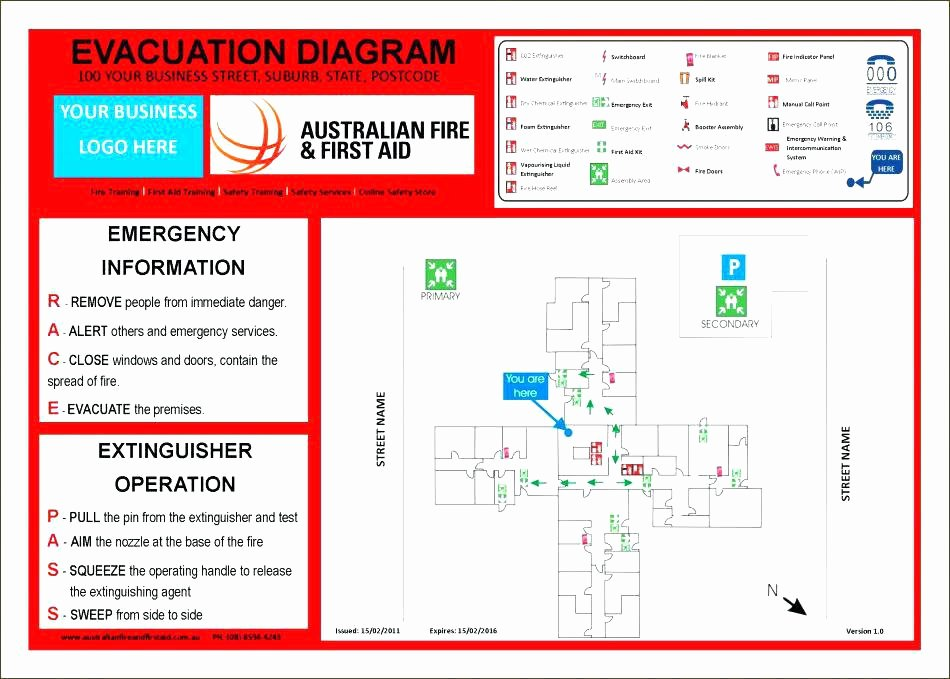 Fire Escape Plan Template Luxury Emergency Fire Evacuation Example Response Action Safety