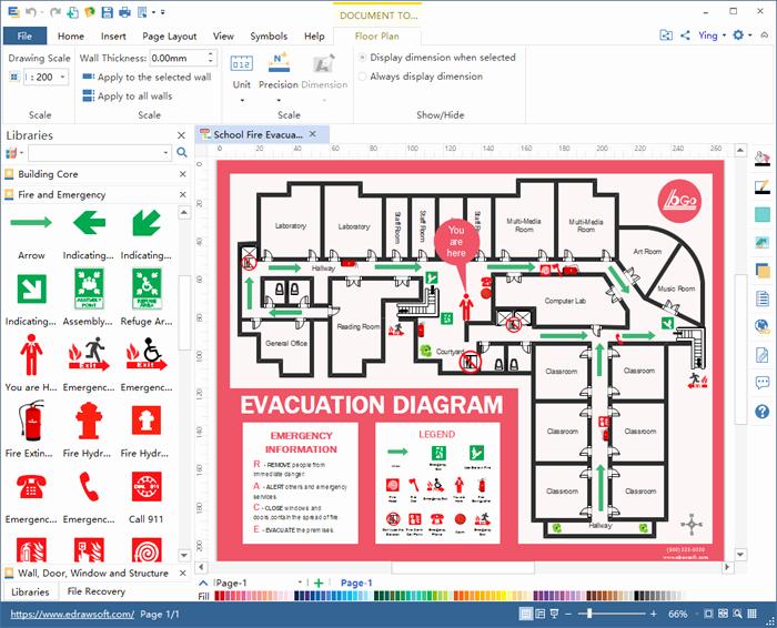 Fire Escape Plan Template Unique Create Evacuation Plan for Excel