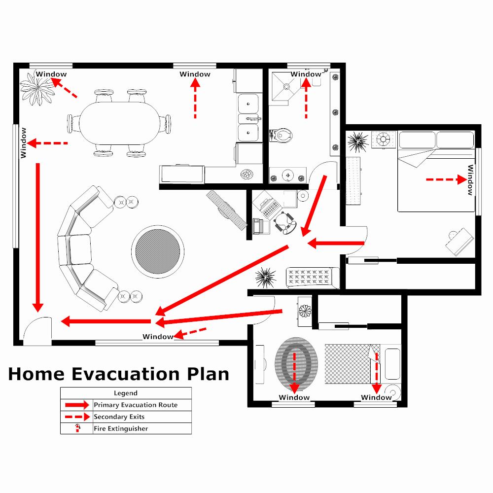 Fire Escape Plan Template Unique Home Evacuation Plan 2