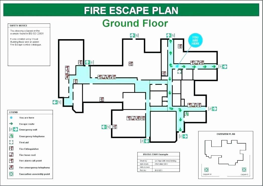 Fire Evacuation Plan Template Best Of Fire Emergency Plan