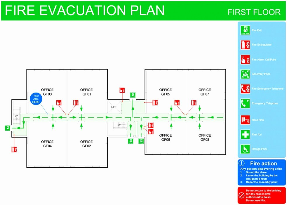 Fire Evacuation Plan Template Lovely 8 Emergency Exit Floor Plan Template toowt