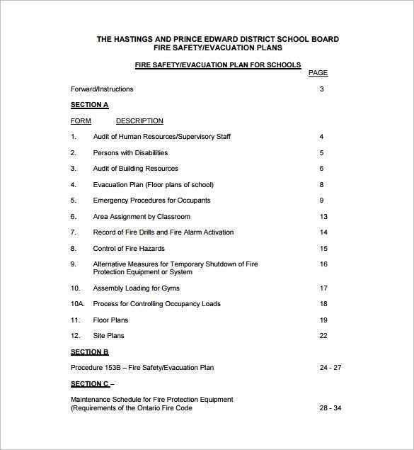 Fire Prevention Plan Template Awesome 12 Evacuation Plan Templates Google Docs Ms Word
