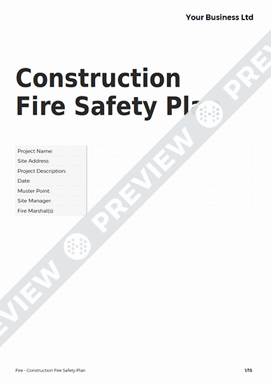 Fire Prevention Plan Template Elegant Construction Fire Safety Plan Fire Template Haspod
