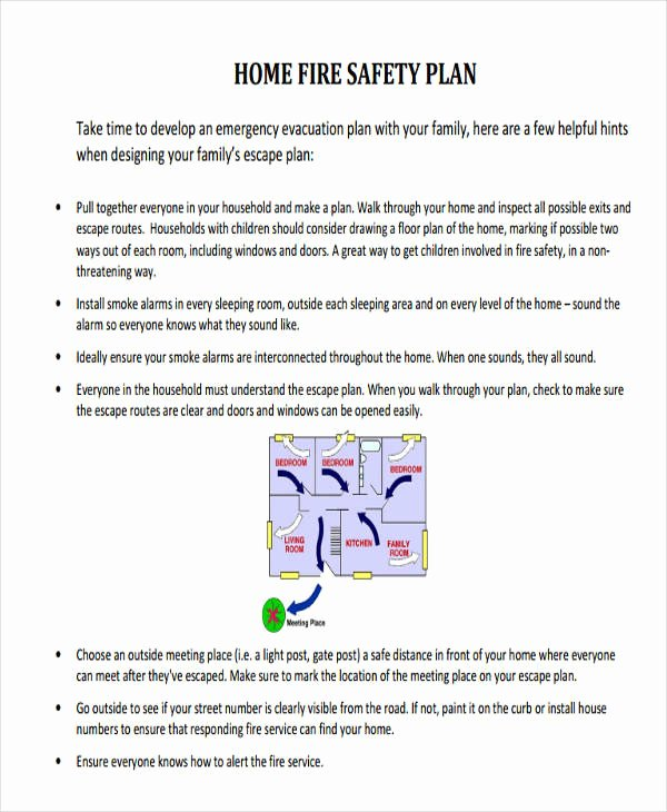 Fire Prevention Plan Template Luxury 29 Safety Plan Samples