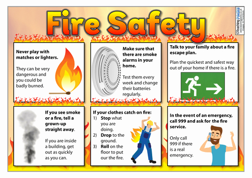 Fire Prevention Plan Template New Fire Safety Poster and Activity Template by