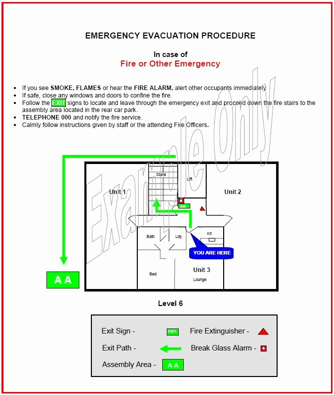 Fire Safety Plan Template Inspirational forms and Templates