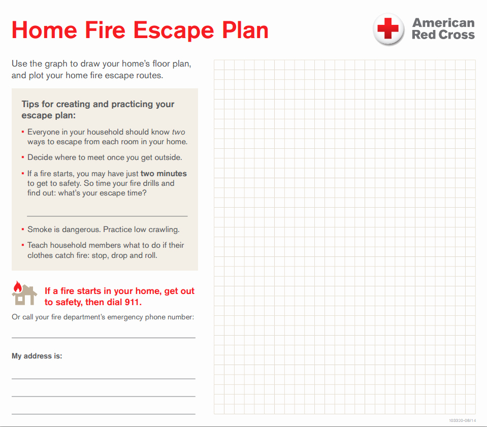Fire Safety Plan Template Luxury Your Home Fire Escape Plan – Central & south Texas Region