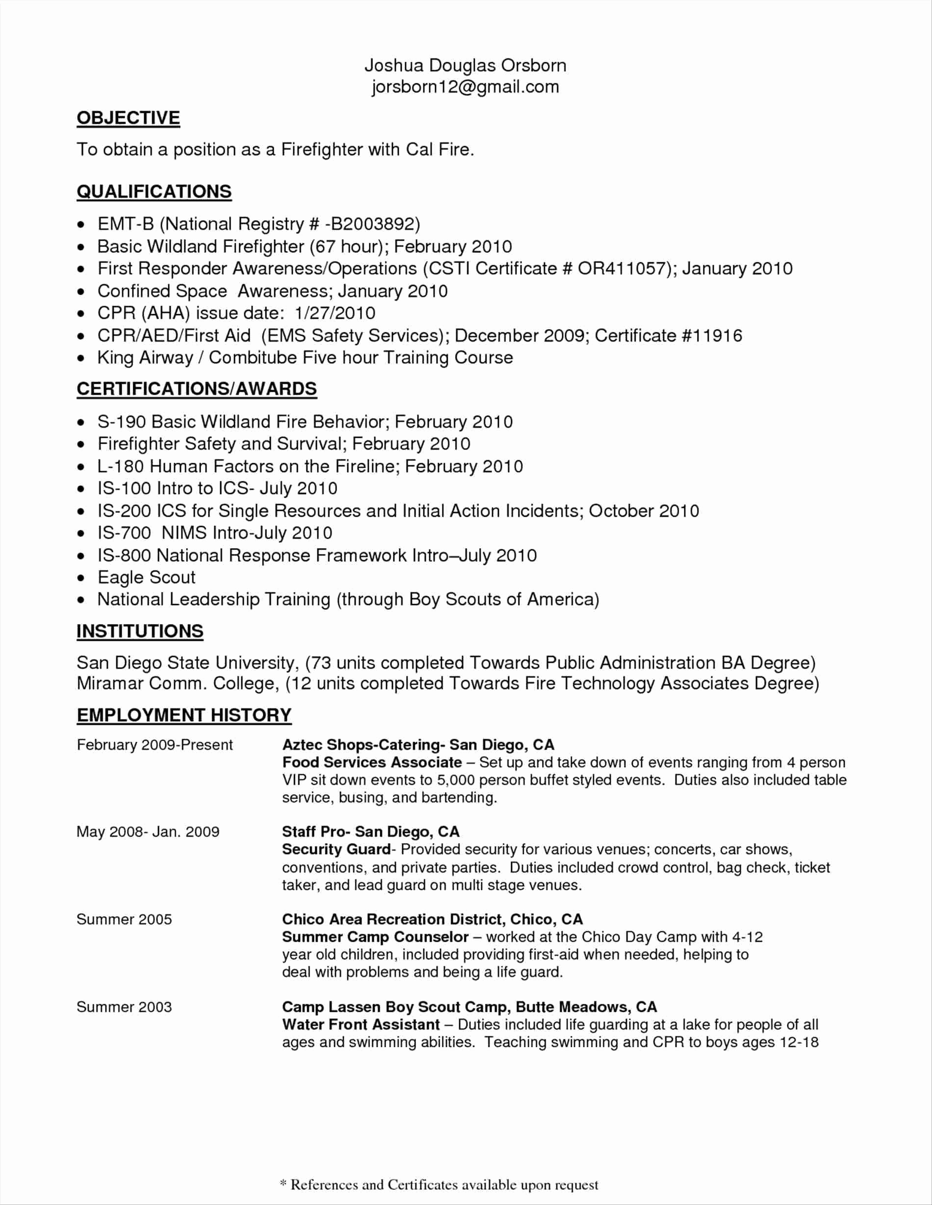 Firefighter Letter Of Recommendation Fresh 12 13 Firefighter Cover Letter Samples