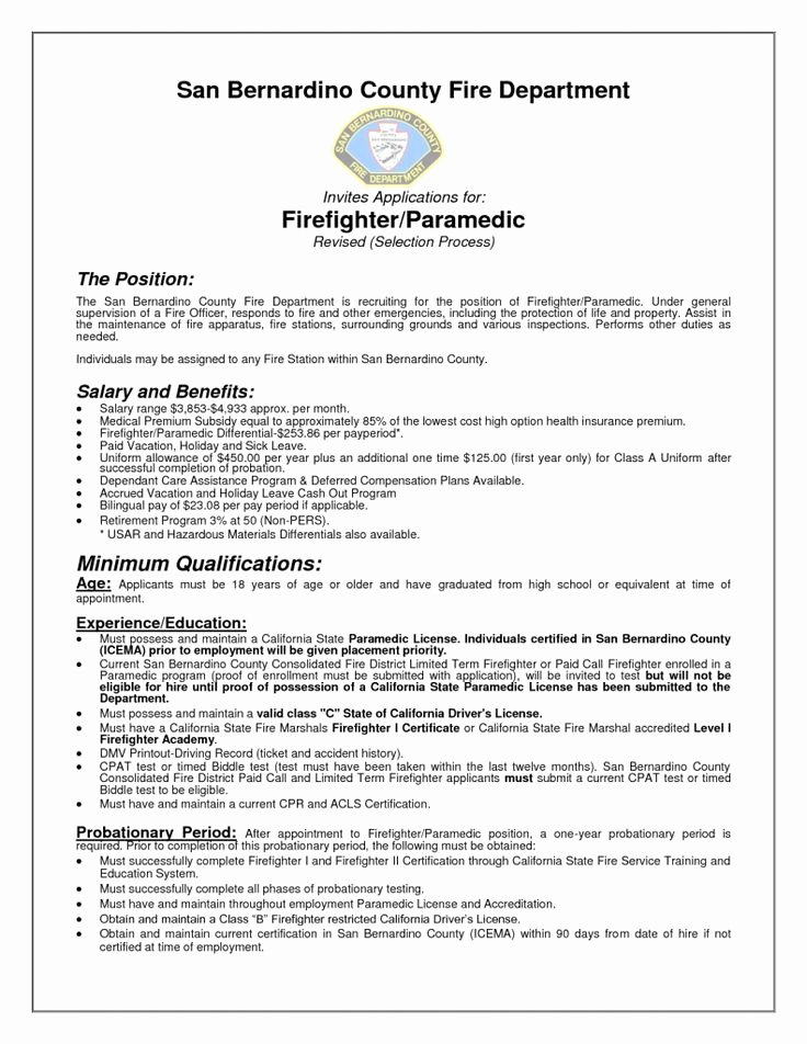 Firefighter Letter Of Recommendation Luxury Best 25 Firefighter Resume Ideas On Pinterest