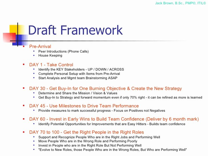 First 100 Days Plan Template Elegant 100 Day Plan for Directing A Pmo