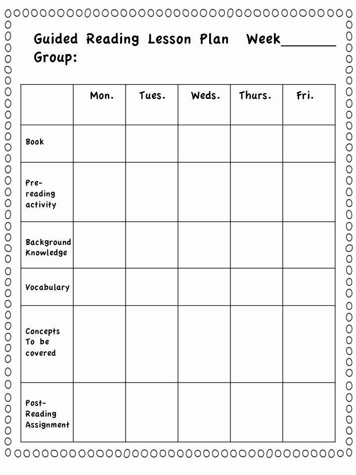 First Grade Lesson Plan Template Best Of Guided Reading Group Lesson Plans First Grade Literacy