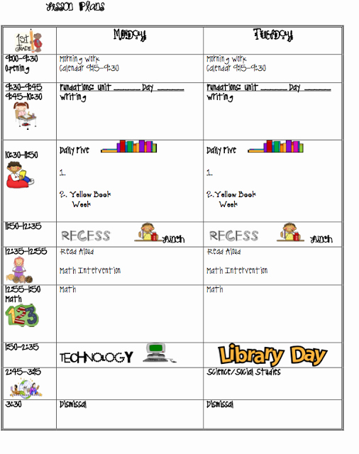 First Grade Lesson Plan Template Best Of I Love First Grade Lesson Plans Education
