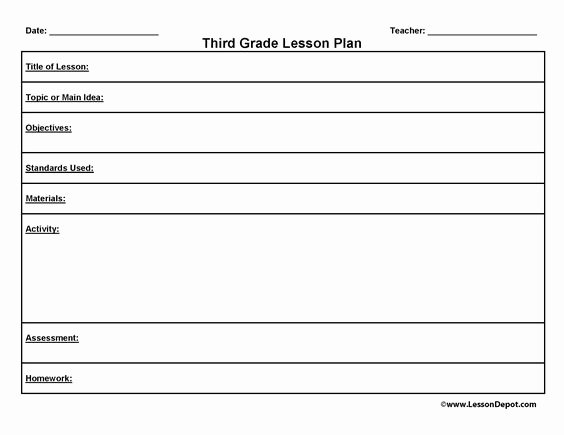 First Grade Lesson Plan Template New Math Lesson Plans for 3rd Graders Third Grade Lesson