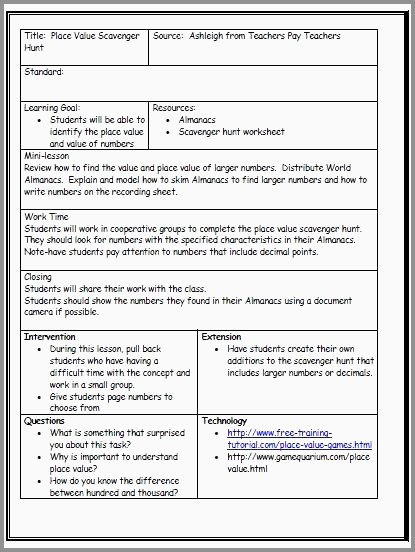 First Grade Lesson Plan Template Unique 47 Best Cooperative Learning Lesson Plan Template