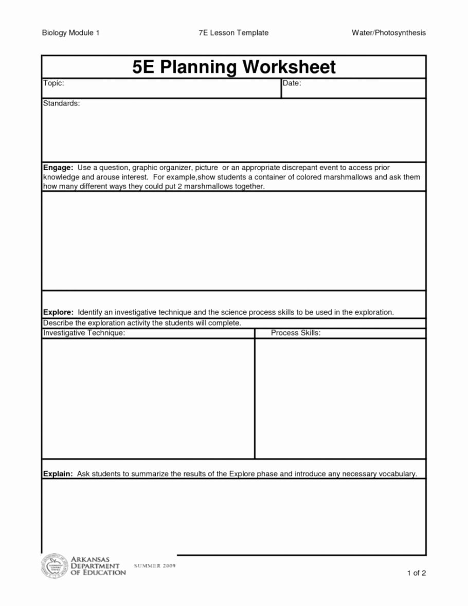 Five E Lesson Plan Template Elegant 5e Lesson Plan Template Texas for Math Ngss