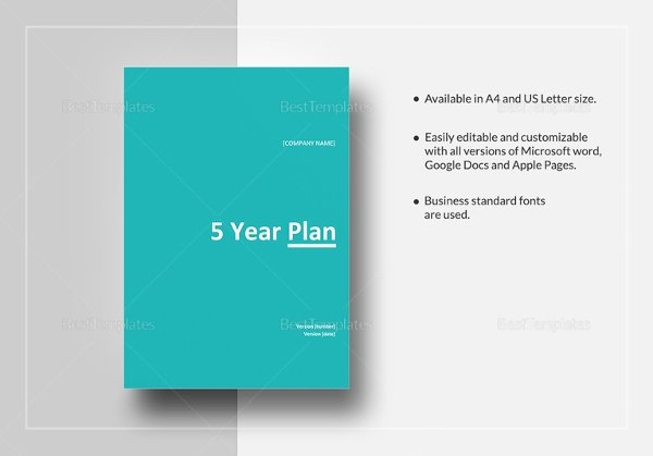Five Year Plan Template Beautiful 10 5 Year Plan Templates Pdf Doc