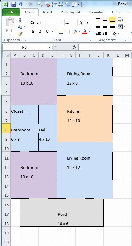 Floor Plan Template Word Fresh Creating Floor Plans In Excel
