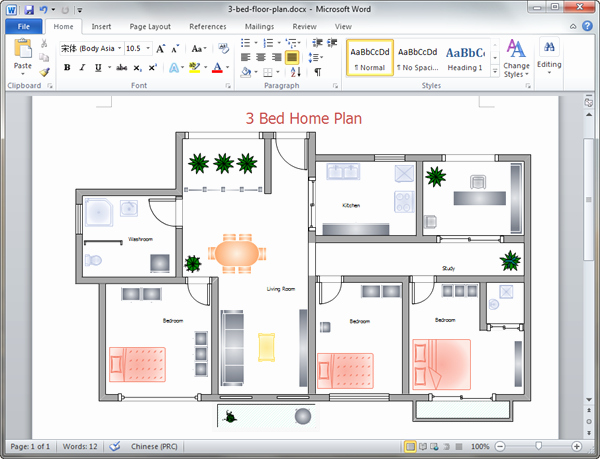 Floor Plan Template Word Inspirational Home Plan Templates for Word