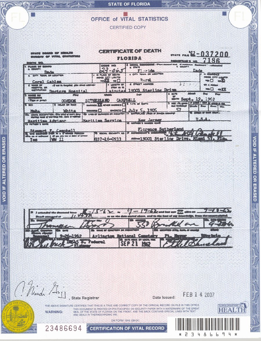 Florida Death Certificate Sample Beautiful October 2010