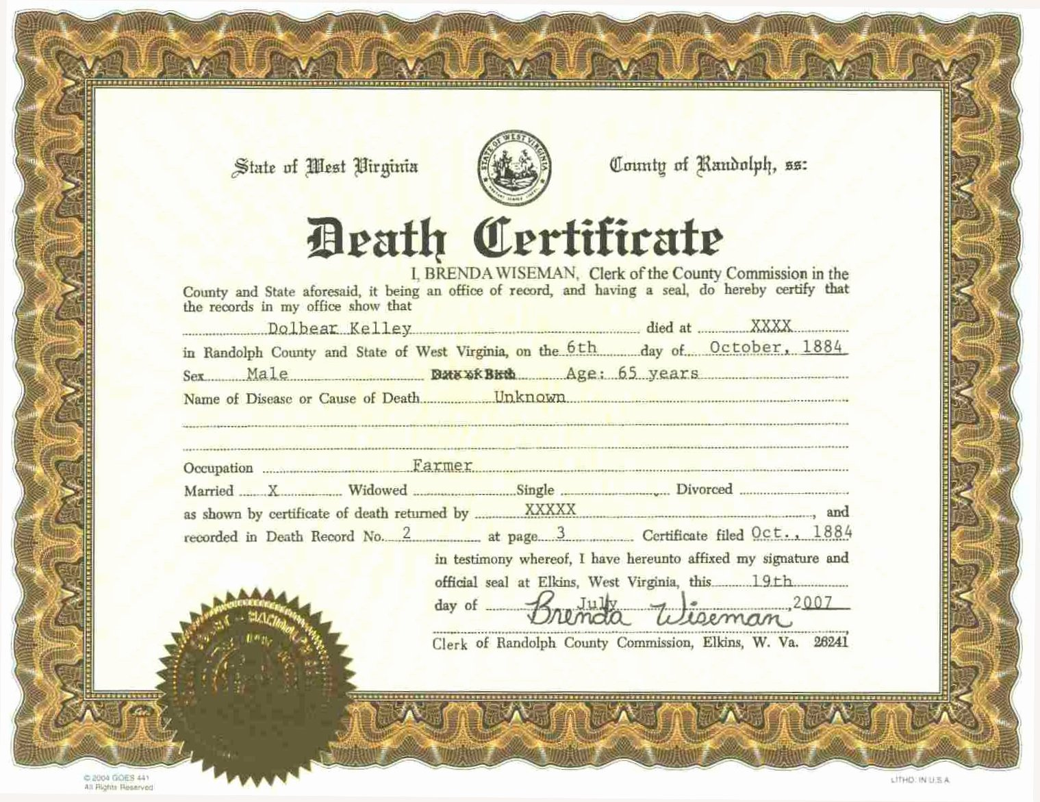 Florida Death Certificate Sample Best Of A Grave Interest the Cost Of Dying – Traditional Funeral