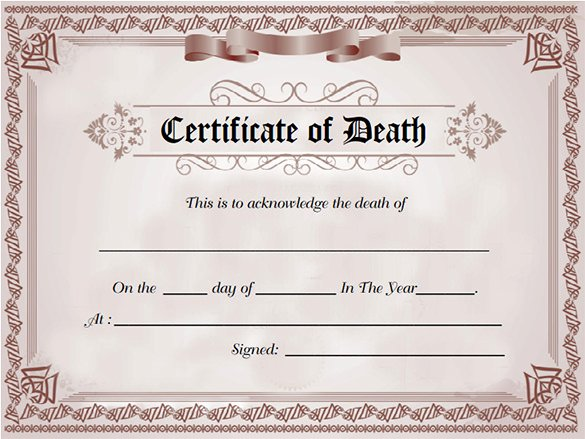 Florida Death Certificate Sample Fresh 8 Death Certificate Templates Psd Ai Illustrator Word