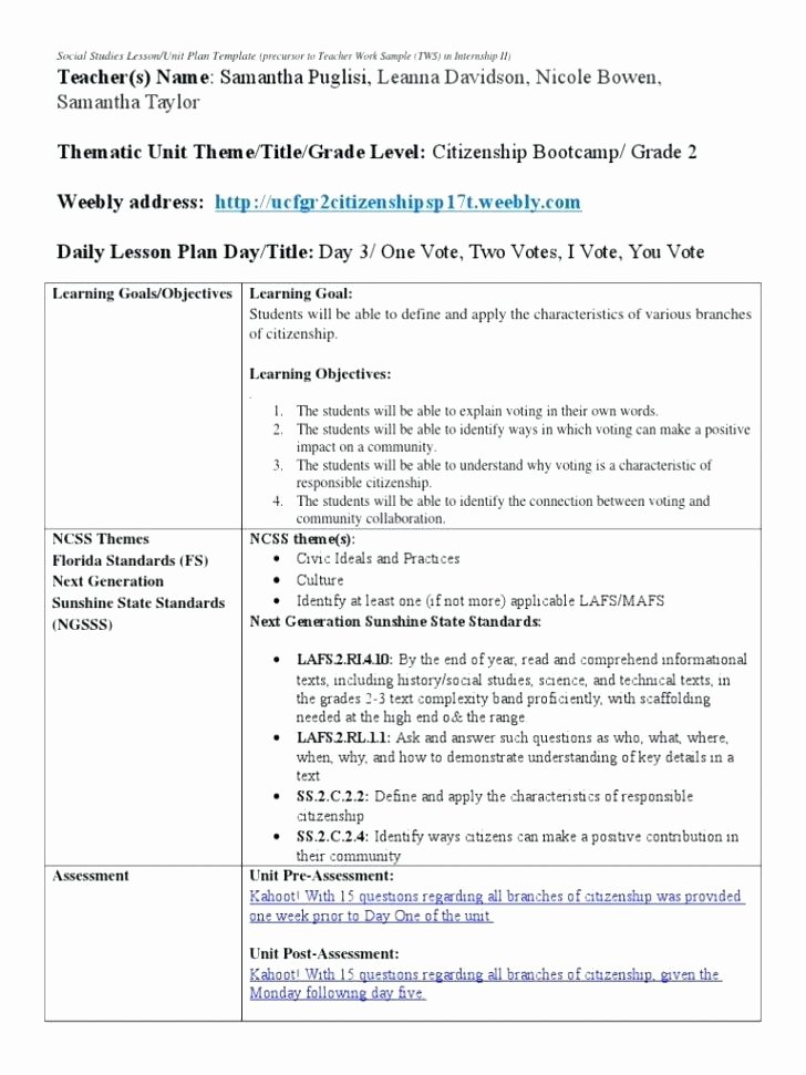 Florida Lesson Plan Template Beautiful Lesson Plan Template Florida Standards Lesson Plan