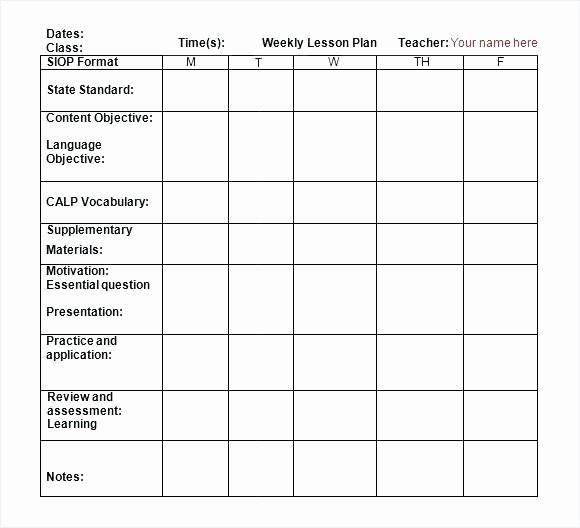 Florida Lesson Plan Template Lovely Mon Core Standards Math Lesson Plan Template – Unit