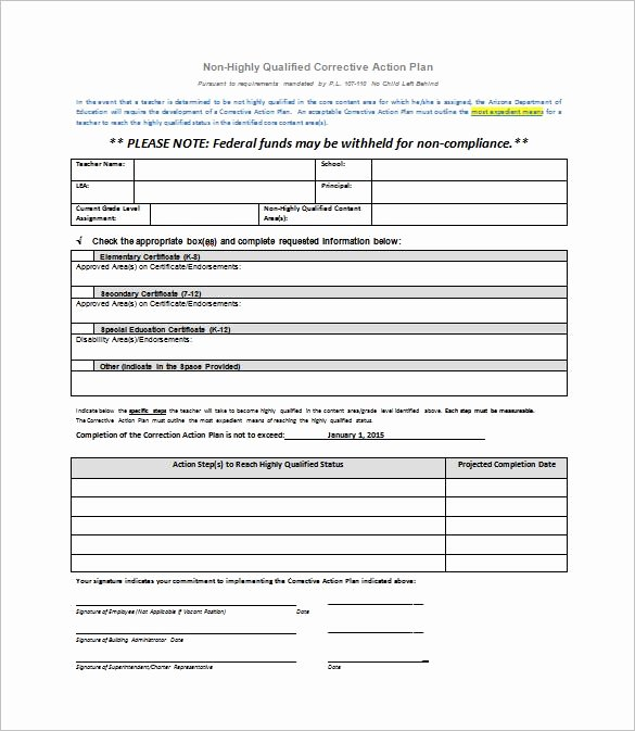 Fmcsa Corrective Action Plan Template Lovely Corrective Action Plan Template 25 Free Word Excel Pdf