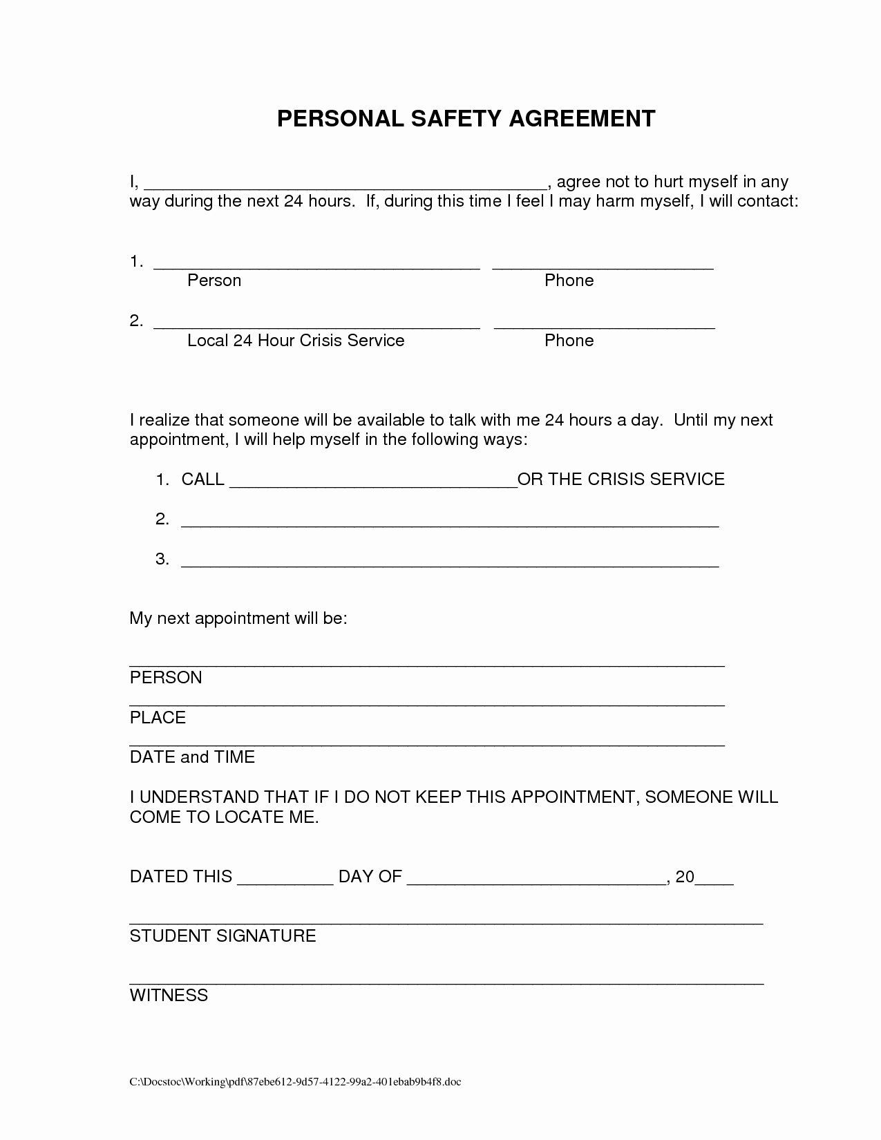 Fmcsa Safety Management Plan Template Best Of Domestic Violence Safety Plan Printable