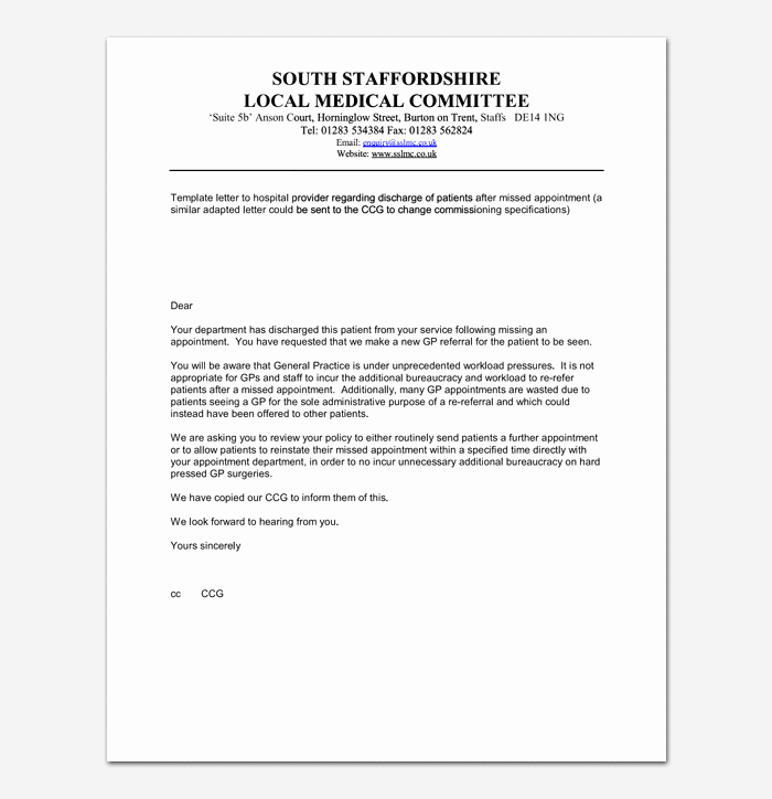 Follow Up Doctor Appointment Letter Fresh Missed Appointment Email Template