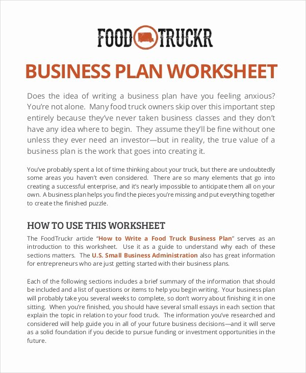 Food Truck Business Plan Template Beautiful 11 Sample Food Truck Business Plans – Pdf Word Pages