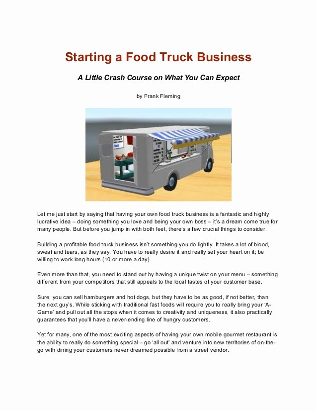 Food Truck Business Plan Template Fresh Business Plan Food Truck Ppt Templates Resume Examples