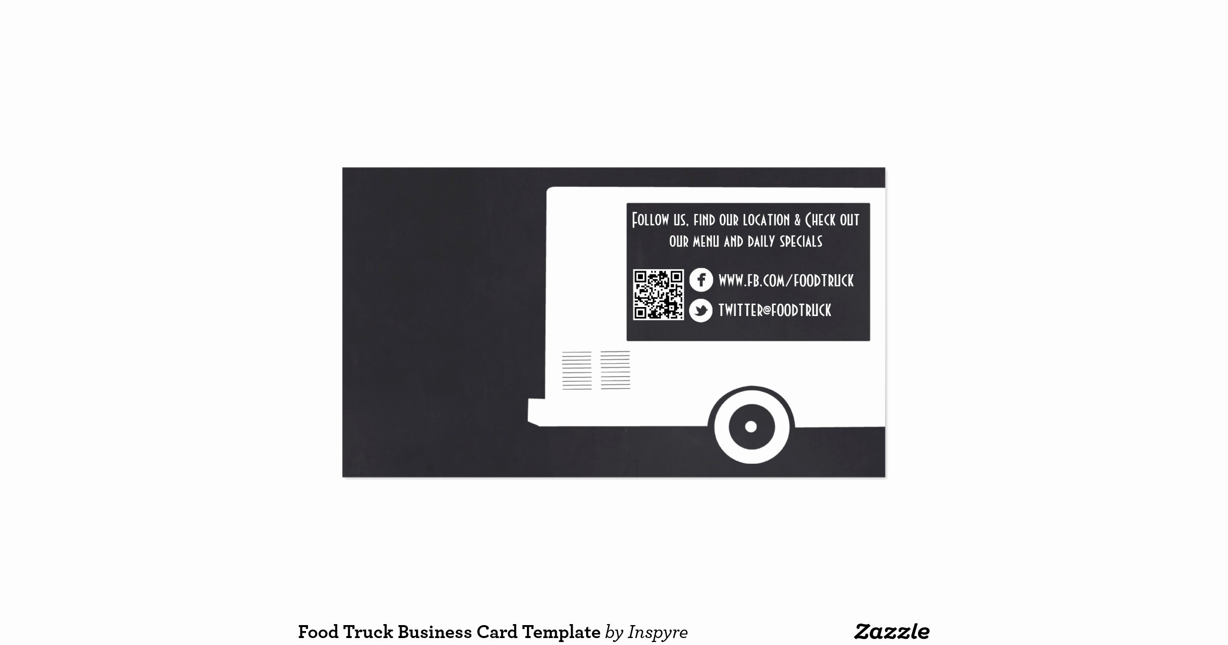 Food Truck Business Plan Template Luxury Food Truck Business Card Template