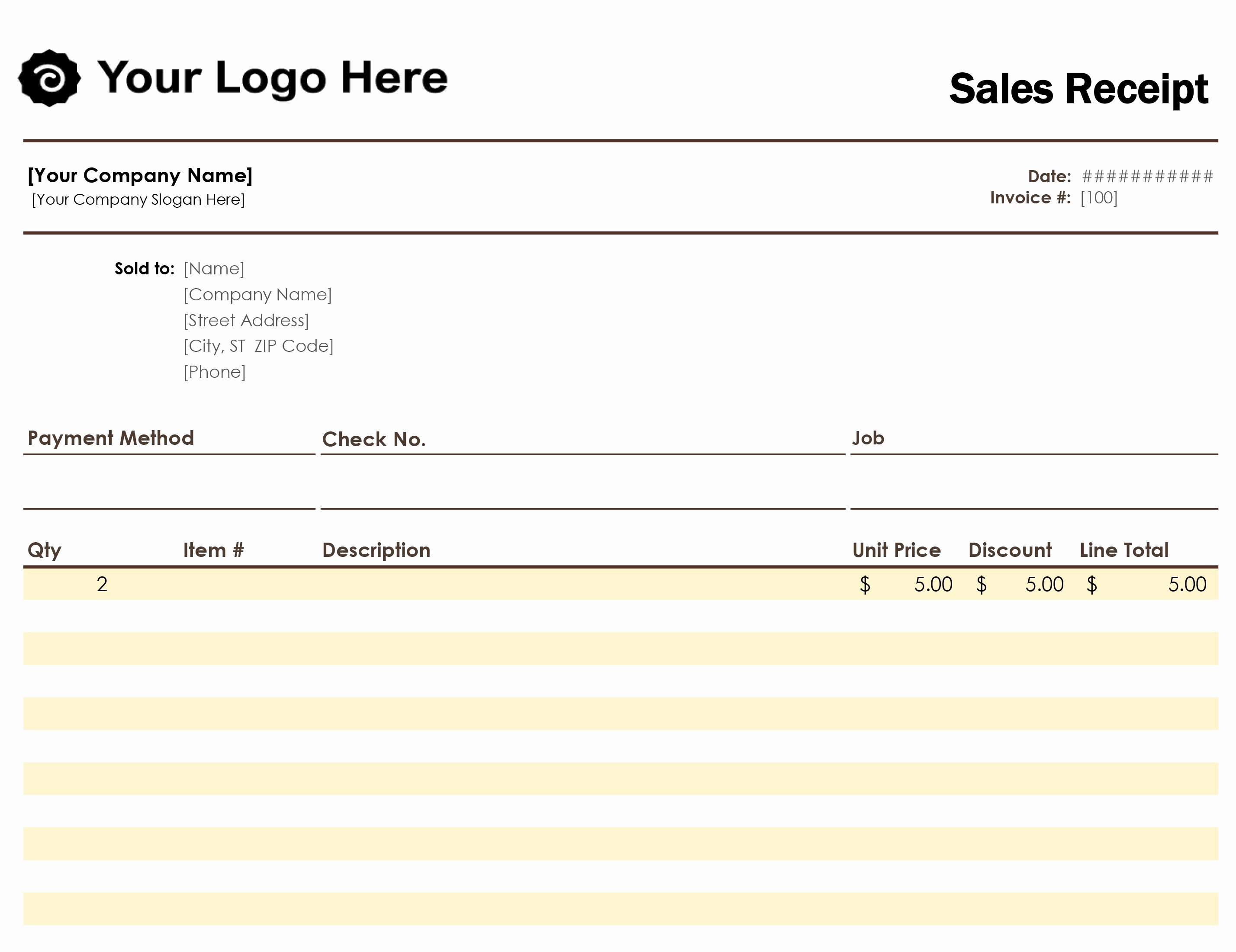 Foot Locker Receipt Template Awesome Blank Receipt Template Word Invoice Pdf Beautiful Free