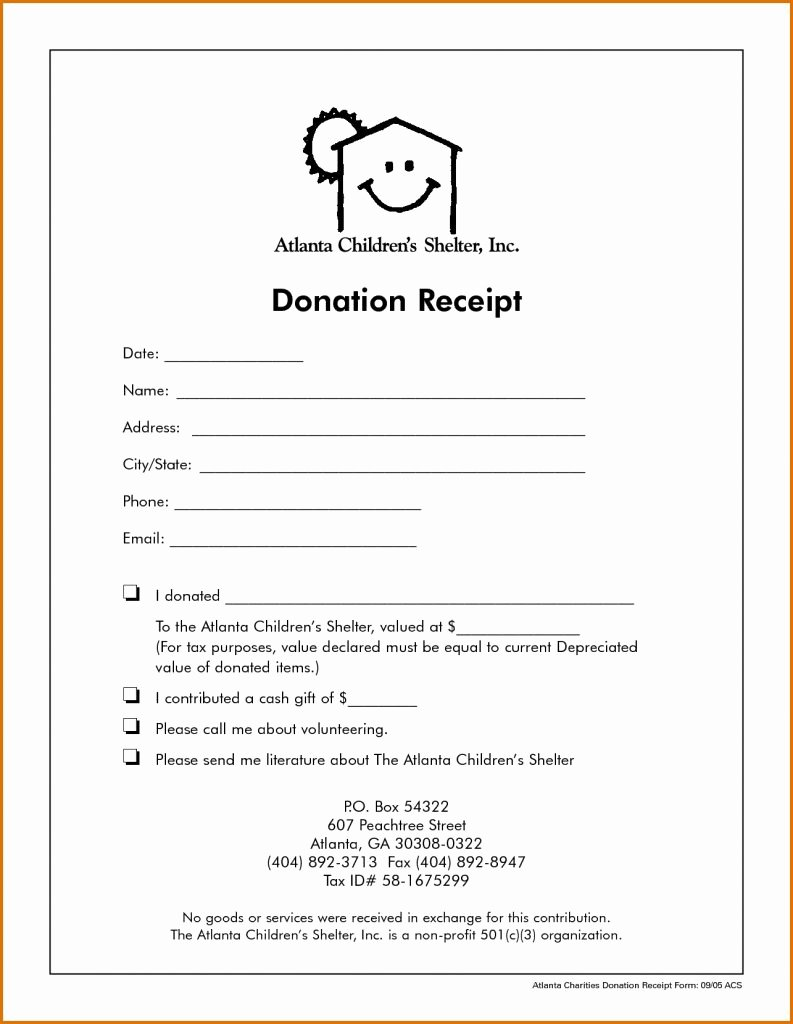 Foot Locker Receipt Template Luxury Non Profit Donation Receipt Letter Receipts Template