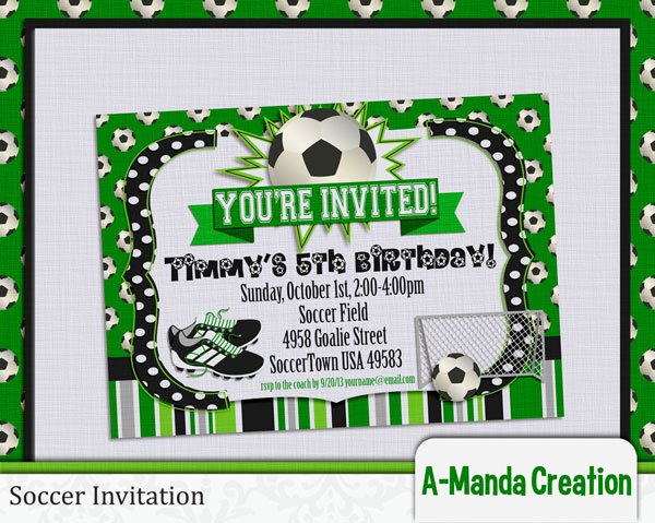Football Match Invitation Letter format Elegant soccer Party Printables and Coach Gifts Amanda Creation