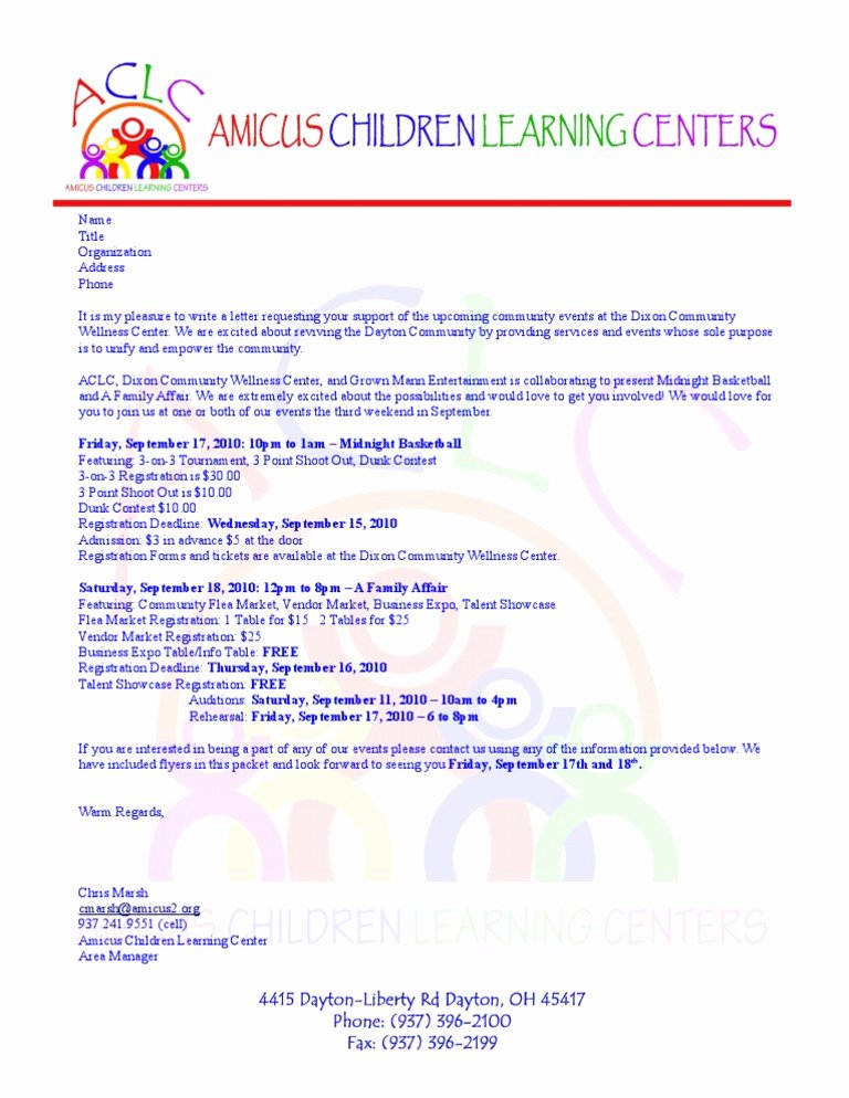 Football Match Invitation Letter format Fresh Participation Request Letter