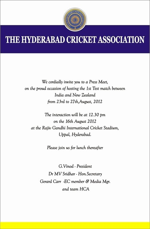 Football Match Invitation Letter format Inspirational Invitation Letter Cricket tournament