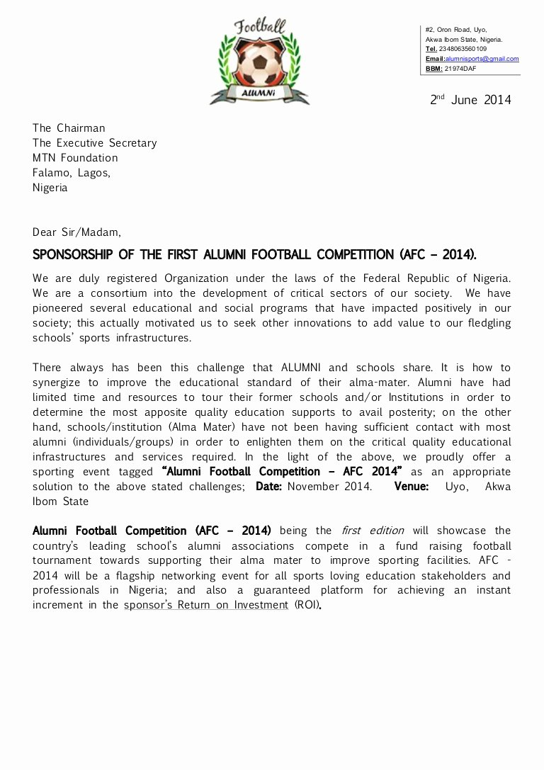 Football Match Invitation Letter format Lovely Alumni Football Petition Afc 2014 Registration