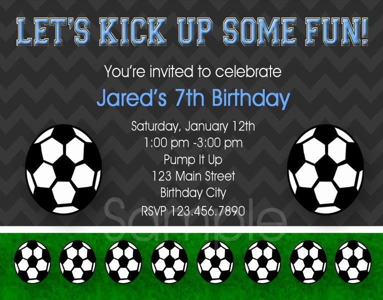 Football Match Invitation Letter format New 8 Best Of soccer Birthday Printable Party