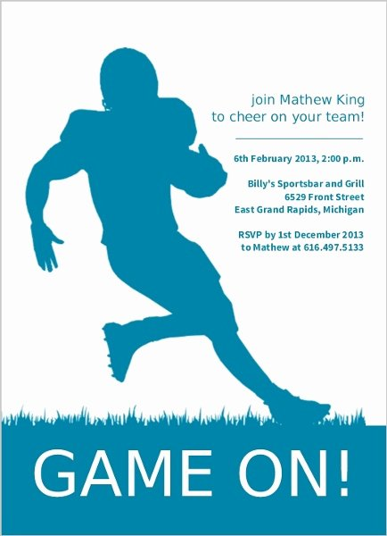 Football Match Invitation Letter format New Runningback Football Invitation