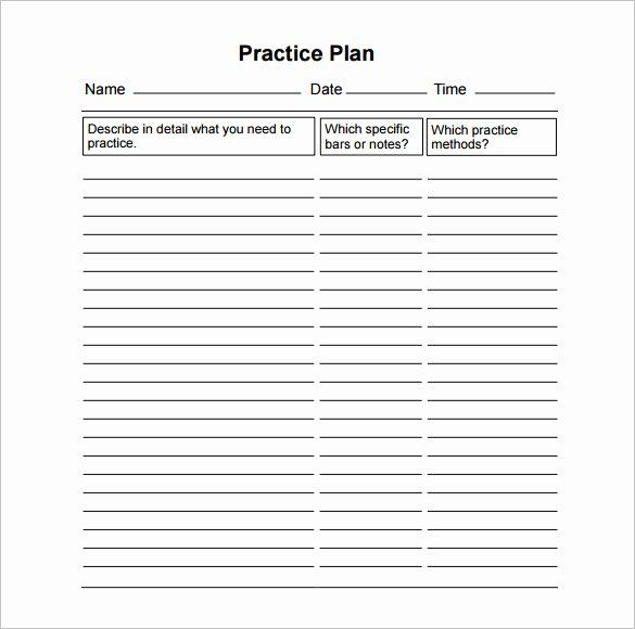 Football Practice Plan Template Excel Unique 11 Practice Schedule Templates Doc Pdf