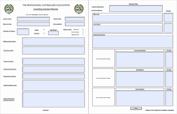 "Football Session Plan Template Beautiful Search Results for ""practice Lesson Plan Template"