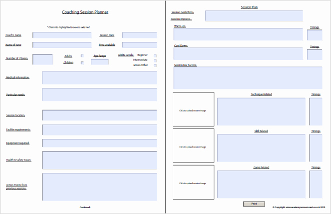 Football Session Plan Template Fresh Interactive Session Plans™ Academy soccer Coach