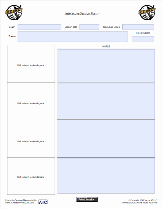 "Football Session Plan Template Fresh Search Results for ""workout Sheets Template"" – Calendar 2015"