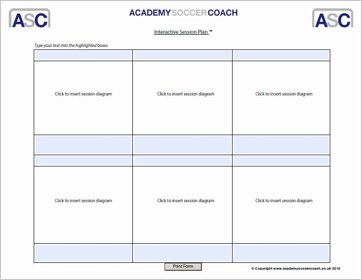 Football Session Plan Template Inspirational Interactive Session Plans™ Academy soccer Coach
