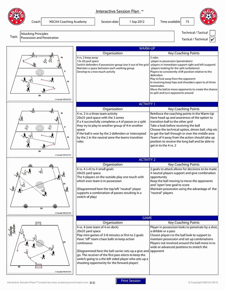 Football Session Plan Template Lovely 139 Best Images About soccer On Pinterest
