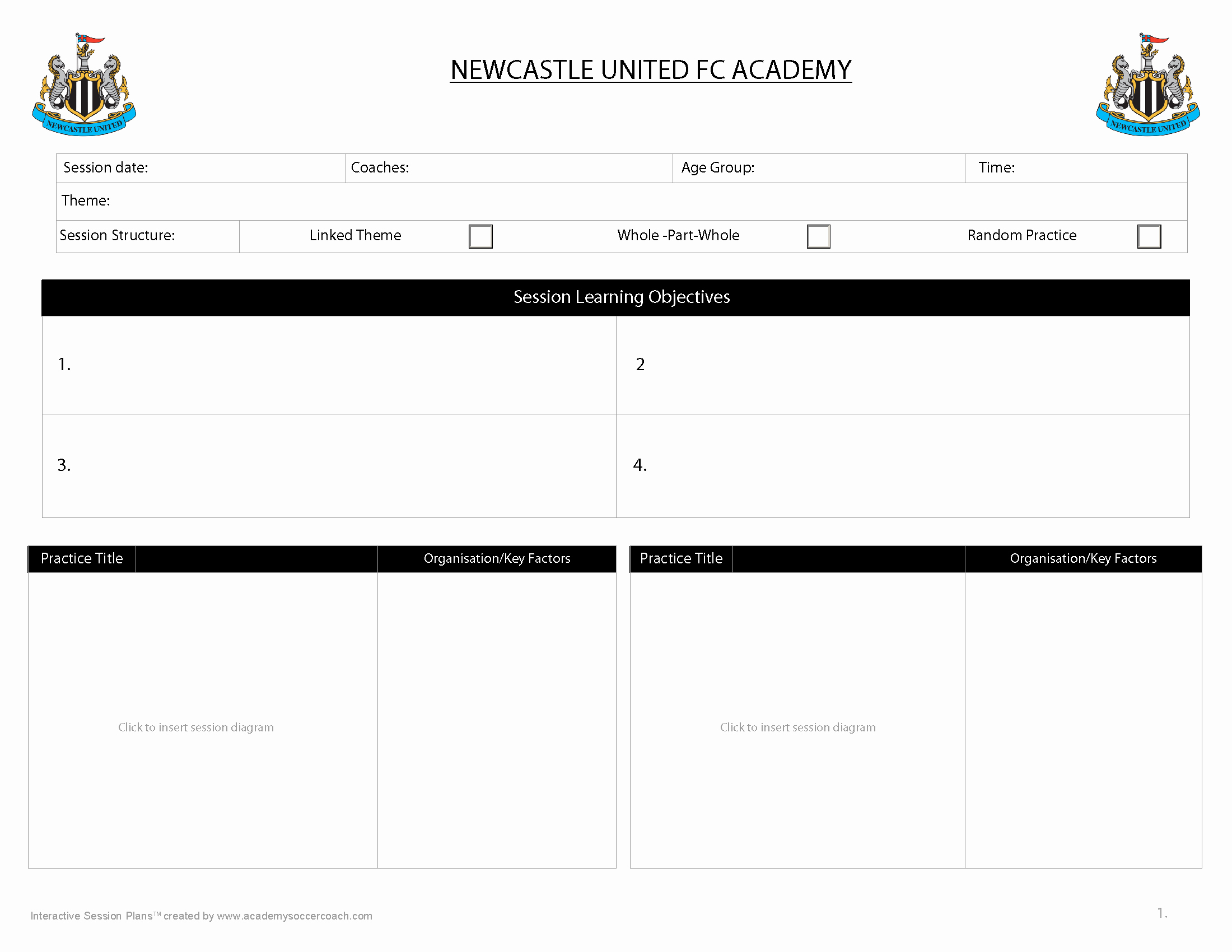 Football Session Plan Template Luxury Customisation Services Academy soccer Coach