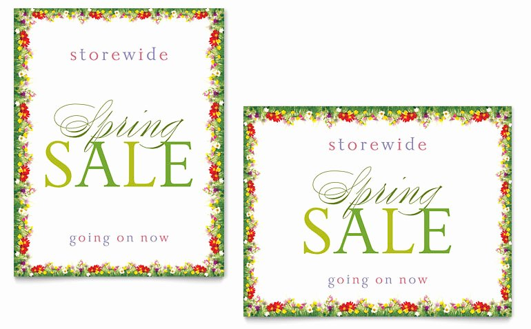 For Sale Template Word Awesome Floral Border Sale Poster Template Word & Publisher