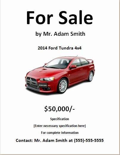 For Sale Template Word Beautiful 30 Of Car Sale Flyer Template